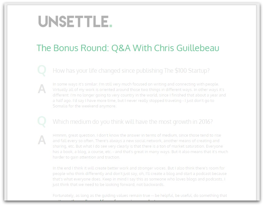 Click me to download Chris' answers to the bonus questions! (No opt in required)